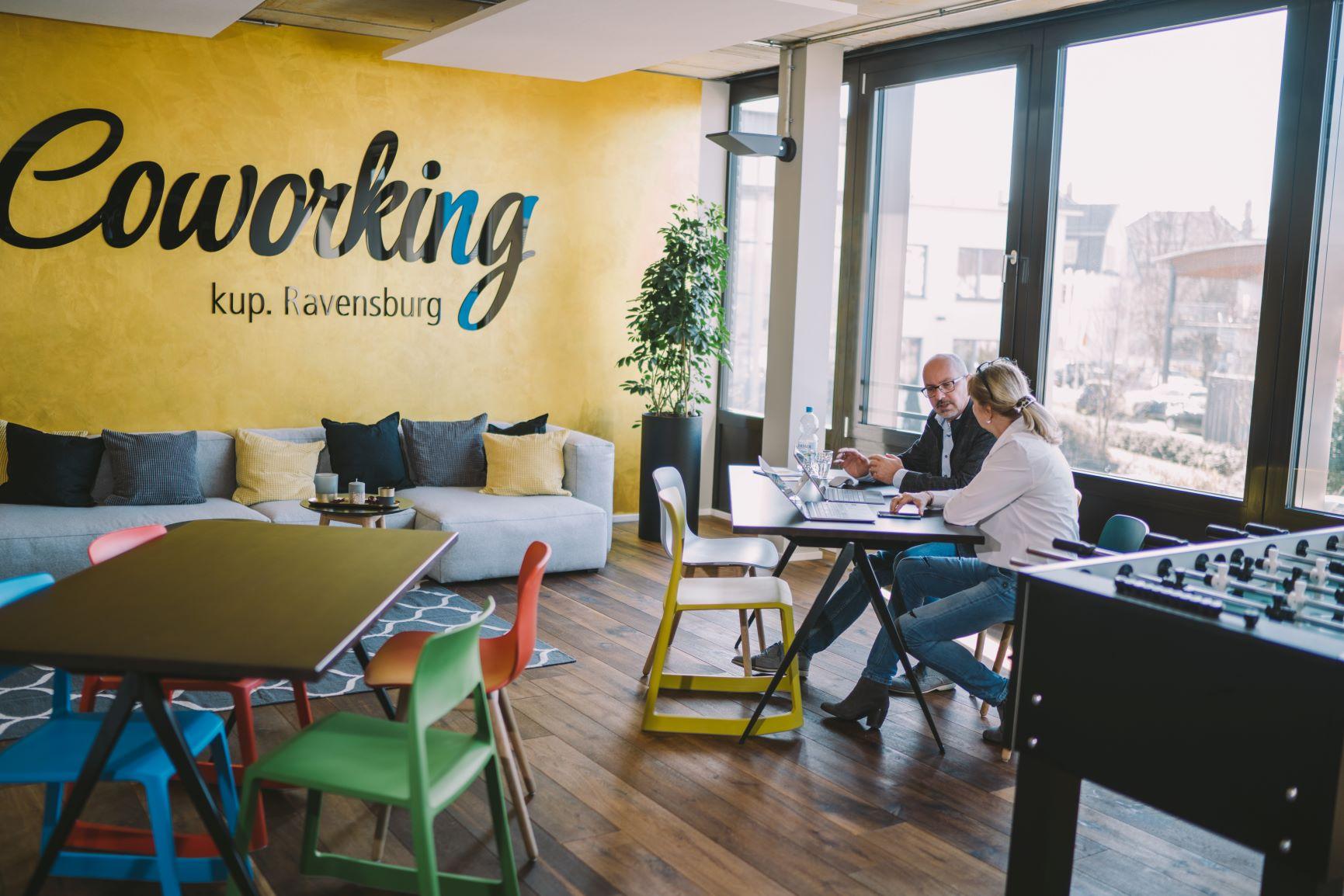 Die Räumlichkeiten des Coworking kup. Ravensburg.